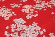 LEO y LIN Un edredón DIY impresa algodón ropa de flor de cerezo Japonés kimono muñeca Patchwork Tela de Algodón tissus (1 metro)(China (Mainland))