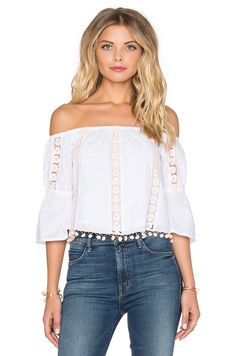 ALEXA TOP TULAROSA in White | #REVOLVEclothing