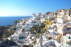 Santorini (Σαντορίνη), also known as Thira (Θήρα) is a Greek island located in the Aegean Sea. It is one of Greece's most picturesque islands and it is known for its amazing views, stunning hillsides, and beautiful sunsets. One thing to note about Greece is