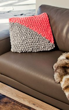 Knitted Fabric Yarn Pillow | Aretha Cushion by We Are Knitters | Fabric Yarn Home Deco Accessories