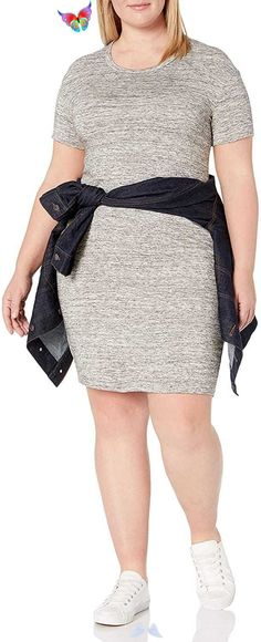 Women's Plus Size Supersoft Terry Short-Sleeve Open Crew Neck Dress Women's Plus Size Supersoft Terry Short-Sleeve Open Crew Neck Dress. Women's Plus Size Tops Striped Raglan Tee Shirts Casual Tunics Blouses New Curvy And Plus Size Women Outfit For Summer 2020. plus size clothing and all trending fashions for chubby and curvy girls. best outfits for plus size | plus sized fashion | style plus size | plus size outfits | womens fashion plus size | outfits plus size | fashion for plus size… Plus Size Jeans, Plus Size Tops, Plus Size Women, Cute Summer Outfits, Cool Outfits, Striped One Piece, Raglan Tee, Tunic Blouse, Jean Outfits