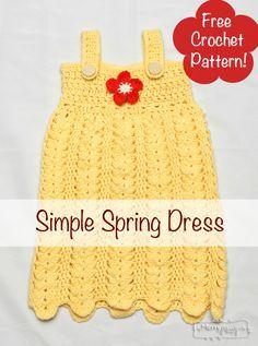 Crochet Spring Dress with Flower - Free pattern!
