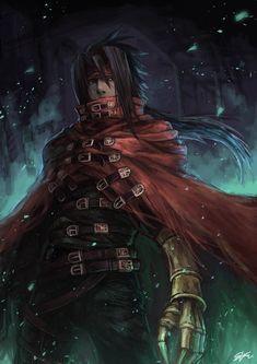 Final Fantasy Artwork, Final Fantasy Characters, Final Fantasy Vii Remake, Fantasy Series, Fantasy World, Final Fantasy Collection, Vincent Valentine, Fantasy Pictures, Art Graphique