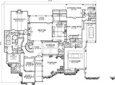 English-Country Style House Plans - 7135 Square Foot Home, 2 Story, 6 Bedroom and 5 3 Bath, 3 Garage Stalls by Monster House Plans - Plan by socorro Rustic House Plans, Small House Floor Plans, Country Style House Plans, Craftsman Style House Plans, Ranch House Plans, Country Style Homes, Dream House Plans, Mansion Plans, Unique Floor Plans