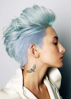 21 Trendy Light Blue Short Pixie Haircuts for 2018