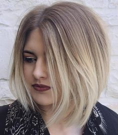 Asymmetrical+Ash+Blonde+Ombre+Bob                                                                                                                                                                                 More