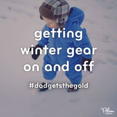 """In honor of the games, we're celebrating some of parenting's most """"medal-worthy"""" moments …least of which was managing today's weather!   Press Like if you think zipping (and unzipping and zipping, and then unzipping) your little one in & out of winter gear definitely deserves a gold medal!  #DadGetstheGold"""