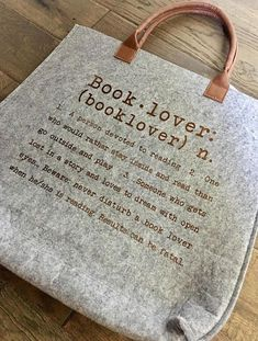 Booklover Tote Bag Definition Of A Book Lover Gift I want this!