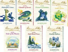 Bloomsbury signature covers of the Harry Potter books