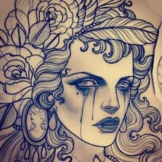 Tattoo Sketches - Emily Rose Murray