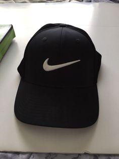 1ed8da012eaac NIKE GOLF CAP HAT BLACK SIZE M L  Nike  BaseballCap