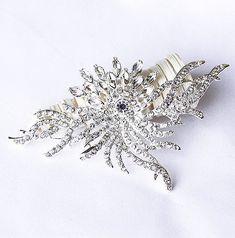 Rhinestone Brooch Component Crystal Flower Bridal Hair Comb Shoe Clip Pin Wedding Cake Decoration Invitation BR082
