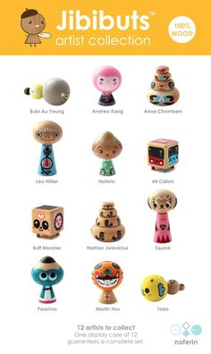 Jibibuts Artist Series - Single - The Hang Gang - UK Designer Toy Store Toddler Toys, Baby Toys, Kids Toys, Metal Toys, Wood Toys, Buff Monster, Monster Le, Biscuit, Vinyl Toys