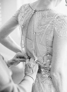 Art deco wedding gown.