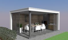 outdoor dining/grill area