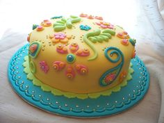 Bollywood cake, full of delicious color