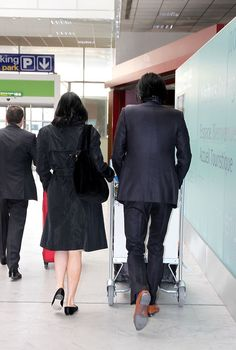 Nick Cave at the Nice Airport