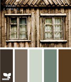 Winter Cabin Paint Colors