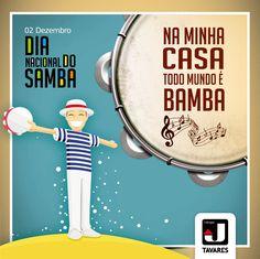 Homenagem ao Dia Nacional do Samba. Veja mais: http://www.jtavares.blog.br/noticias/hoje-dia-samba/ #JTavaresConsultoriaImobiliária #ImóveisdeAltoPadrão #VamosSambar