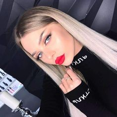 women new fashion bodycon bodysuit sexy party club body Blonde Hair Looks, Brown Blonde Hair, Hair Dye Colors, Hair Color, Leather Look Jeans, Blaues Make-up, Hair Inspo, Dyed Hair, Wigs