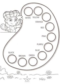 Printable Activities Learn Colors 14 is part of English activities - English Primary School, Kids English, English Classroom, English Lessons, Teaching English, Learn English, English Tea, Preschool Worksheets, Preschool Learning