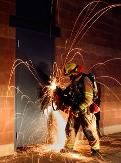 A firefighter at my department - Visalia Fire Department!!!                                                                                                                                                                                 More