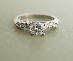 My, my, my,Vintage Platinum Diamond Engagement Ring