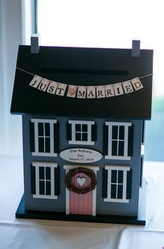The cutest card box from Kaitlin & JJ's wedding!