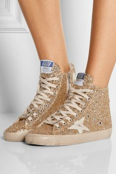 various colors d1c38 52b2b Golden Goose Deluxe Brand   Francy glittered leather high-top sneakers    NET-A