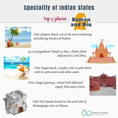 Top 5 #destinations you must visit while in #DamanandDiu #GroupOuting #GoGroupOuting