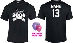 13 Year Old Birthday Shirt or Hoodie 2004 Kids by BirthdayBashTees