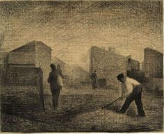 Georges Seurat. Stone-breakers, Le Raincy, 1881