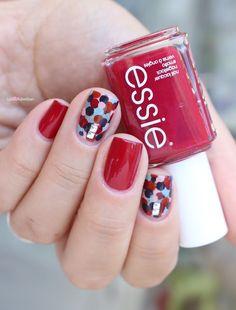 Essie fall collection 2016 go go geisha Maki me happy confetti dotticure dots nail art