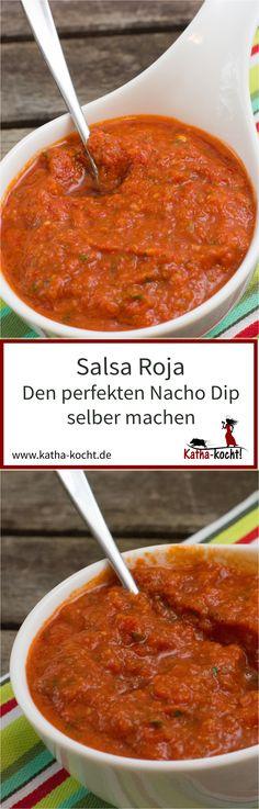 Mit diesem Rezept für eine leckere und unkomplizierte Salsa Roja könnt ihr den beliebten Nacho Dip ganz einfach selber machen. Wie ihr das macht verrate ich euch hier auf katha-kocht!