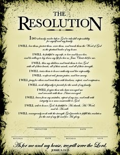 """The Resolution. From the movie """"Courageous."""" Recreated by me. No copyright infringement intended."""