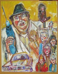 """Uncle Buck painting.  mixed media 16"""" x 20"""""""