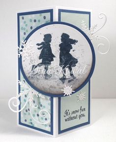 This is my sample for an upcoming tutorial - I'll fill in more details when things go live! The stamps I used are from a new clear set from Impression Obsession called Winter Silhouettes. Dies are also from IO.