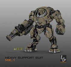 HEAVY SUPPORT SUIT MK.1 (Commission) by ianskie1.deviantart.com on @deviantART