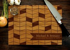 Chevron Pattern, Chopping Block, Foodie Gift, Charcuterie Board, Laser Engraved Wood, Trending Now
