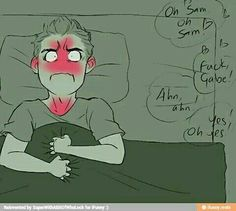 Payback for what destiel did the night before Supernatural Fan Art, Castiel, Supernatural Imagines, Winchester, Sherlock, Sam And Gabriel, Fnaf, Film Serie, Johnlock