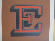 Letter E #vintage #typography