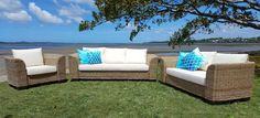 Coastal 3 Seater, 2 Seater Outdoor Sectional, Sectional Sofa, Outdoor Furniture, Outdoor Decor, Coastal, Armchair, Home Decor, Sofa Chair, Modular Couch