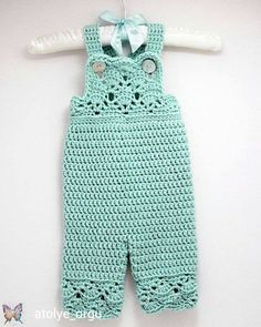 Crochet Baby Dress Crochet Baby Girl Overalls in Robins Egg Blue, Sizes Newborn… Crochet Romper, Crochet Bebe, Baby Girl Crochet, Crochet Baby Clothes, Crochet For Kids, Crochet Ideas, Crochet Patterns, Crochet Baby Blanket Beginner, Baby Knitting
