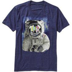MTV Men's Space Man Graphic Tee, Size: XL, Blue