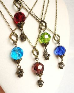 Mini Hot Air Balloon Necklace Steampunk by ViperCoraraDesigns, $15.00