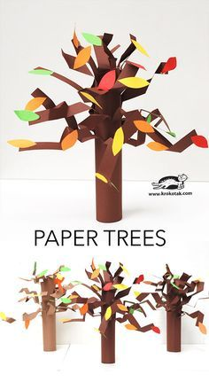Paper trees craft