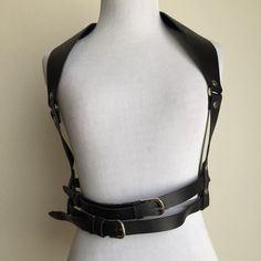 Men/'s Real Leather Shoulder Harness Larp Body ArmourBody Leather