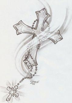 Rosary Cross Shine Tattoo By Face Tattoo | Tattoo Photo | rossie_28 ...