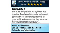 This is the best place for PT. My doctor was amazing. She always had a smile and a great...