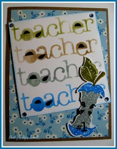 Lakeside Stamping: Teacher Cards